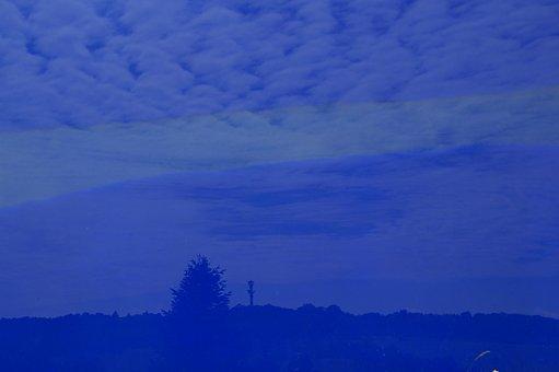 Glass, Mirroring, Blue, Artwork, Botanical Garden, Ulm