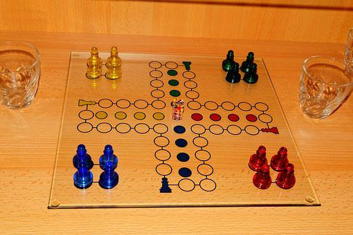 Not Ludo, Gesellschaftsspiel, Game Characters, Glass
