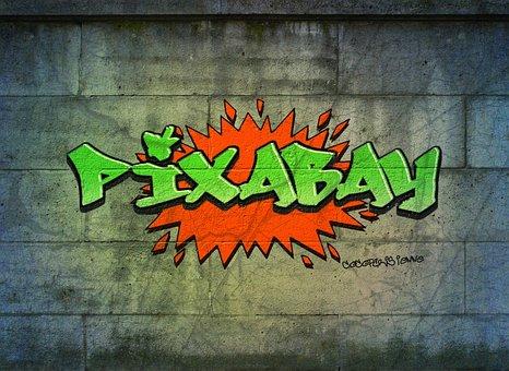 Graffiti, Logo, Pixabay, Lettering, Company Logo, Text