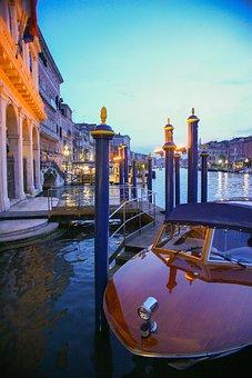 Boat, Venice, Italy, Venetian, Italian, Canal, Europe