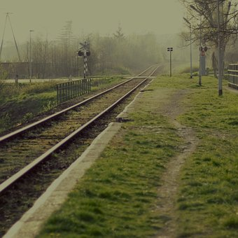 Landscape, Tracks, Sky, The Background, View