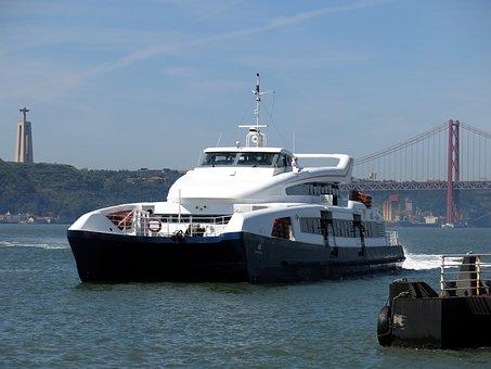 Lisboa, Lisbon, Portugal, Speedboat, Ship, Boot