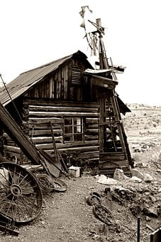 Old House, Mine Town, Abandoned House, Ghost Town