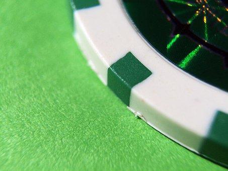 Pocker, Green, Cards, Chip, 25, Gambling