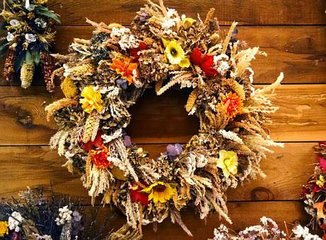 Decoration, Wreath, Fall, Natural, Wood, Rural, Autumn