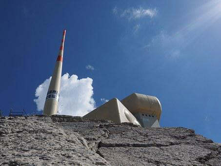 Send System, Transmission Tower, Säntis, Mountain