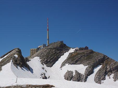 Säntis, Mountain, Alpstein, Alpine, Snow, Swiss Alps