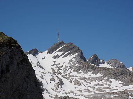 Säntis, Mountain, Alpine, Snow, Swiss Alps, Appenzell