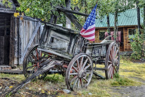 Old, Wooden, Wagon, Wild West, Southern Usa