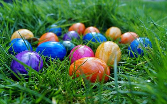 Easter, Eggs, Color Eggs, Spring, In The Grass