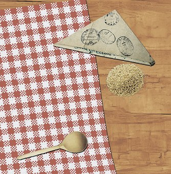 Millet, Table, Letter-triangle, Tablecloth, Letter