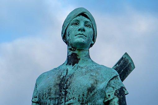 Tine, Bronze Statue, Husum, Adolf Brütt, Landmark