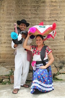 Mexican, People, Guelaguetza, Oaxaca, Turkey, Mexico