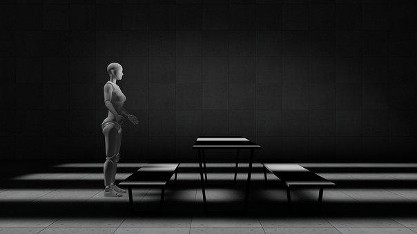 Robotics, 3d Modeling, 3d Mockup, Human, Robot, Ai