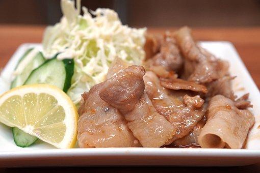 Ginger Grilled, Japan, Food, Meat, Pork, Cuisine