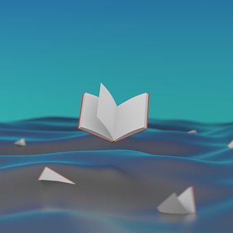 Books, Ocean, Pages, Reading, Wisdom, Waves, Fiction