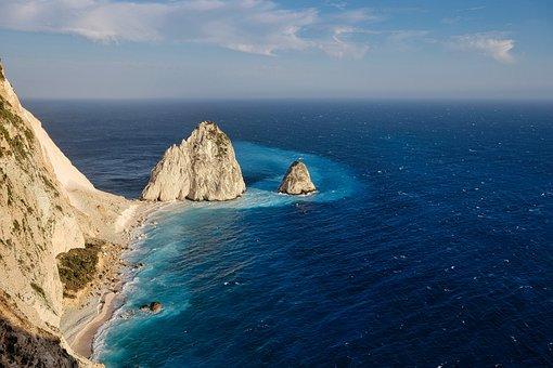 Zakynthos, Coast, Sea, Ocean, Island, Rock, Bay, Water