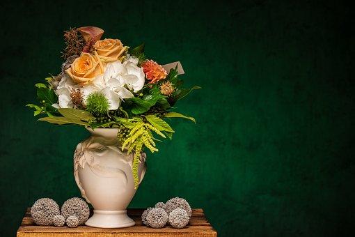 Flowers, Vase, Decoration, Botanic, Blossoms, Bloom