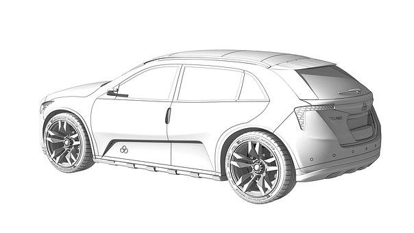 Car, Sketch, Render, Design, Drawing, Concept, Future
