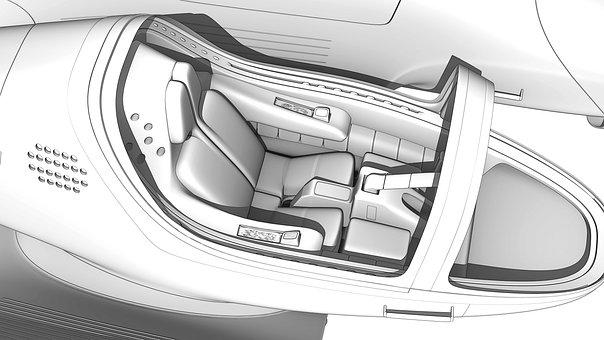 Vehicle, Sketch, Render, Car, Design, Drawing, Concept