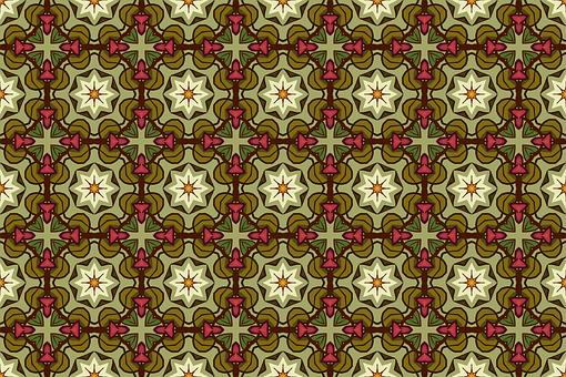 Background, Ornamental, Pattern, Retro, Flower