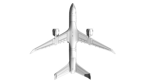 Airplane, Sketch, Render, Design, Drawing, Concept