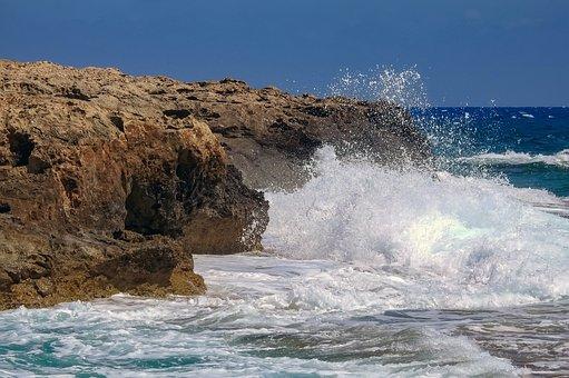Rock, Waves, Splash, Sea, Spray, Rock Formation