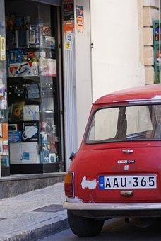 Car, Mini, Street, Parking, Trade, Vehicle
