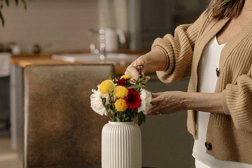 Flowers, Bouquet, Vase, Table, Indoor, Florist