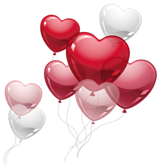 Balloons, Hearts, Romance, Party, Celebration