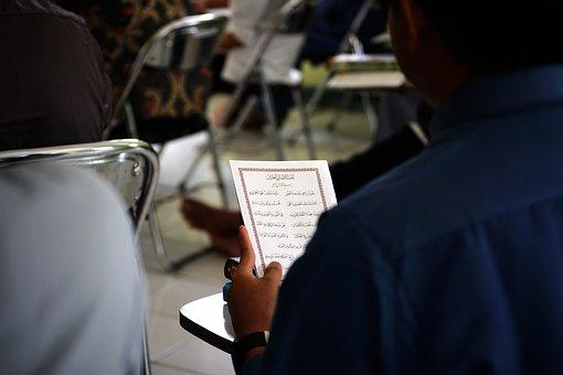 Man, Book, Learning, Reading, Writing, Religion, Islam
