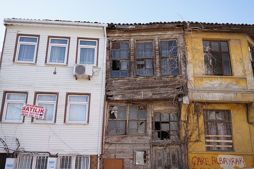Houses, Buildings, Abandoned, Window, Roofs, Old