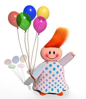 Child, Balloons, Birthday, Childhood, Kid, Party