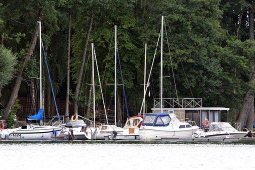 Lake, Sailboats, Docked, Port, Sailing, Regatta