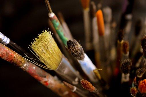 Painting, Tools, Artist, Paintbrush, Hair, Brushes