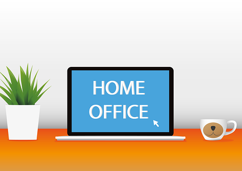 Home Office, Laptop, Telework, Computer, Device