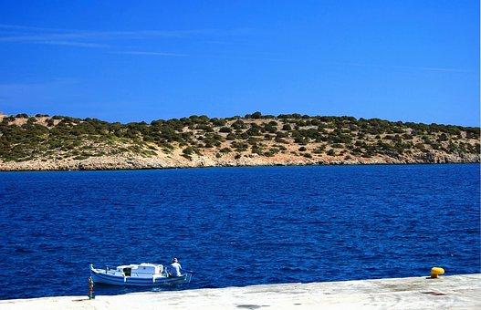 Sea, Boat, Crete, Greece, Coast, Fishing, Fisherman