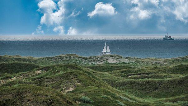 Rolling Hills, North Sea, Island, Nature, Sea, Coast