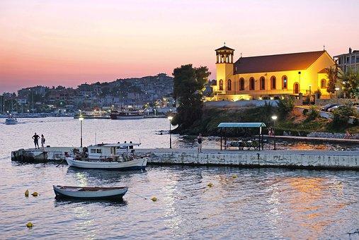 Port, Greece, Boats, Vacation, Mediterranean, Sea, Pier