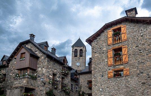 Old Town, Rural, Patones, Lanuza, Village, Town, Tower