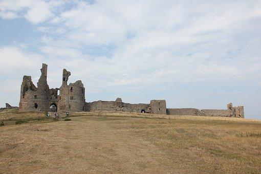 Castle, Ruins, Fortress, Abandoned, Dunstanburgh
