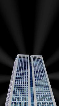 High Rise, Building, Skyscraper, Architecture, Facade