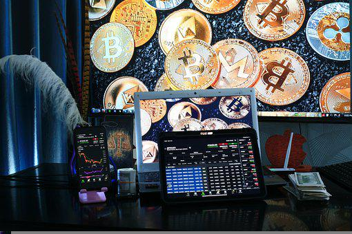 Trading, Blockchain, Cryptocurrency, Stocks