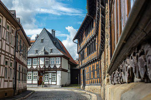 Road, Alley, Building, Half-timbered House, Facade