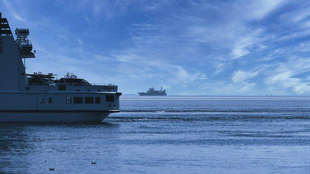 Ship, Sea, Ferry, North Sea, Nautical, Norderney