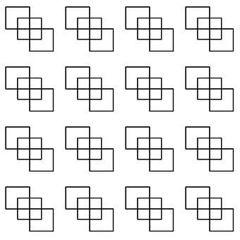 Squares, Cross, Cube, Frame, Mosaic, Tiles