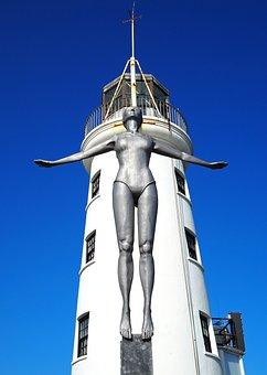 Lighthouse, Statue, Travel, Sculpture, Landmark