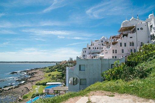 Mediterranean, House, Water, Architecture, Uruguay
