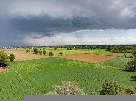 Plain, Field, Agriculture, Countryside, Aerial View