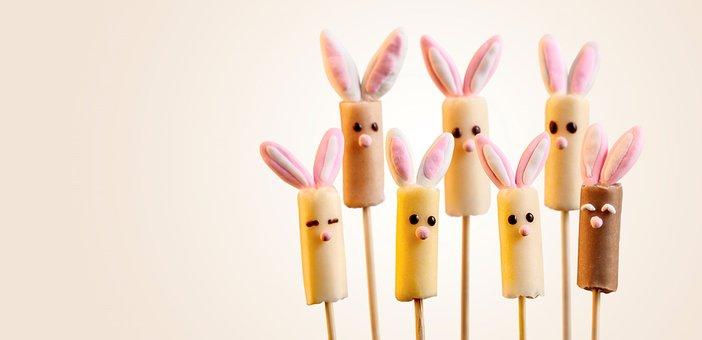 Lollipop, Sugar, Candy, Sweet, Bunnies, Childhood